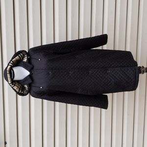 BURBERRY NOVA CHECK WOOL LINED QUILTED COAT